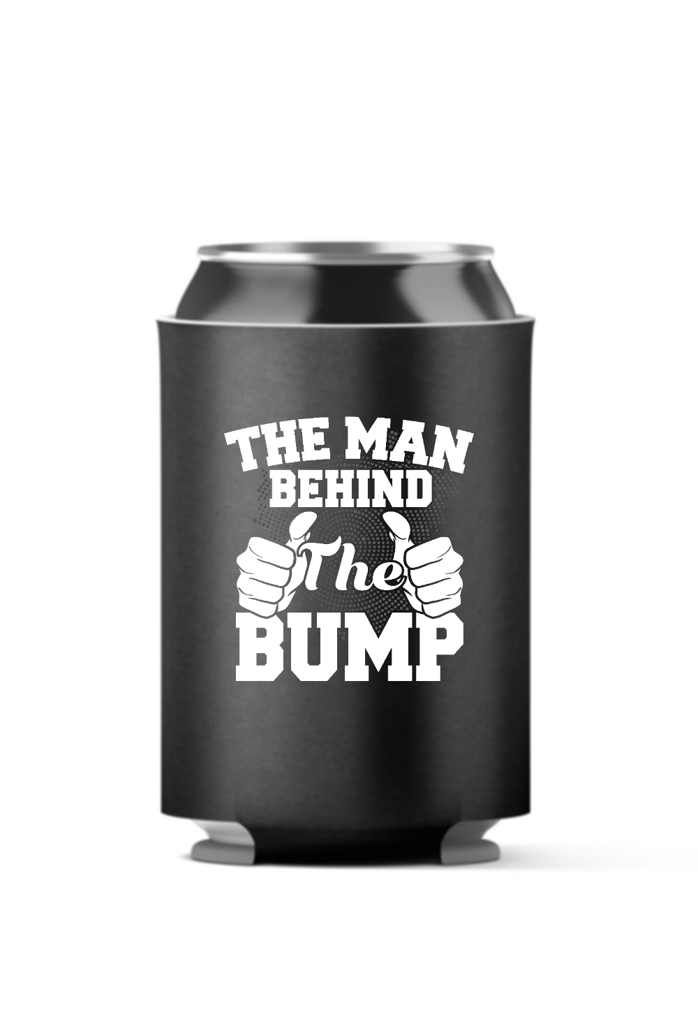 The Man Behind the Bump 4-Pack Can Coolers