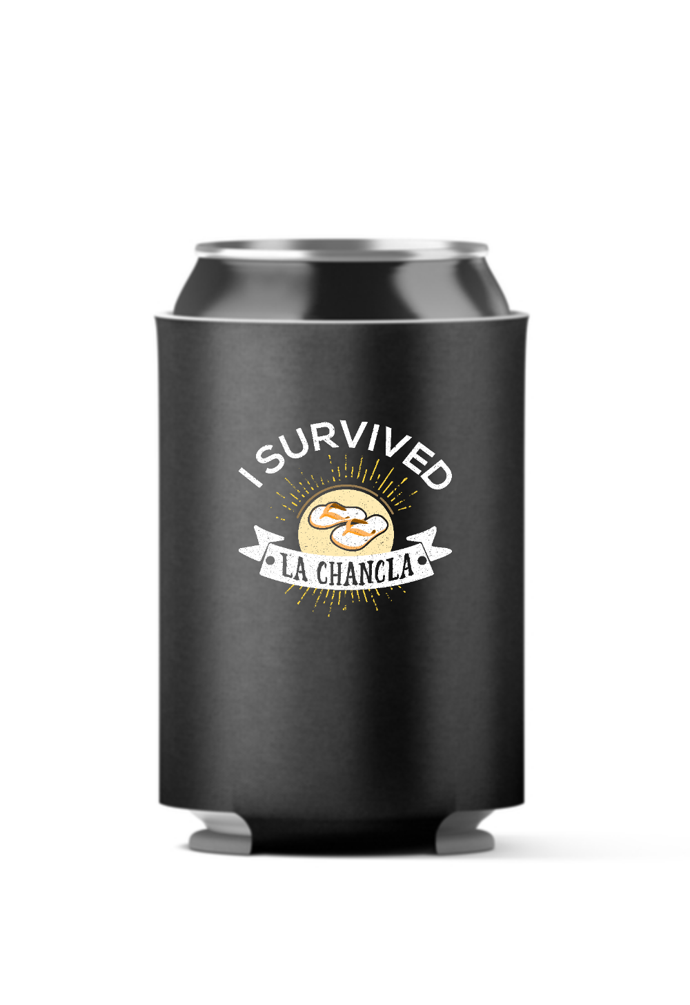 I Survived La Chancla 4-Pack Can Coolers
