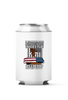 Veteran, Memorial Day Patriotic American Under the Flag 4-Pack Can Coolers
