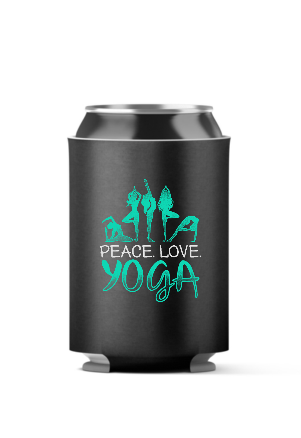 Peace Love Yoga 4 Pack Can Coolers
