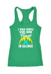 I Wish People were more Fluent in Silence Camping Racerback Tank Top