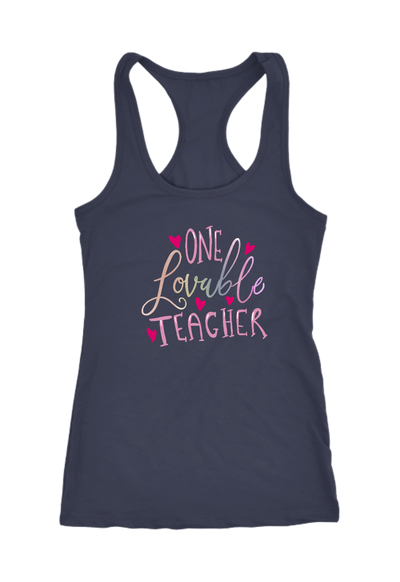One Lovable Teacher Racerback Tank Top