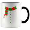 Snowman Accent Christmas Coffee Mug