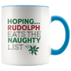 Rudolph Eats the Naughty List Christmas Accent Coffee Mug