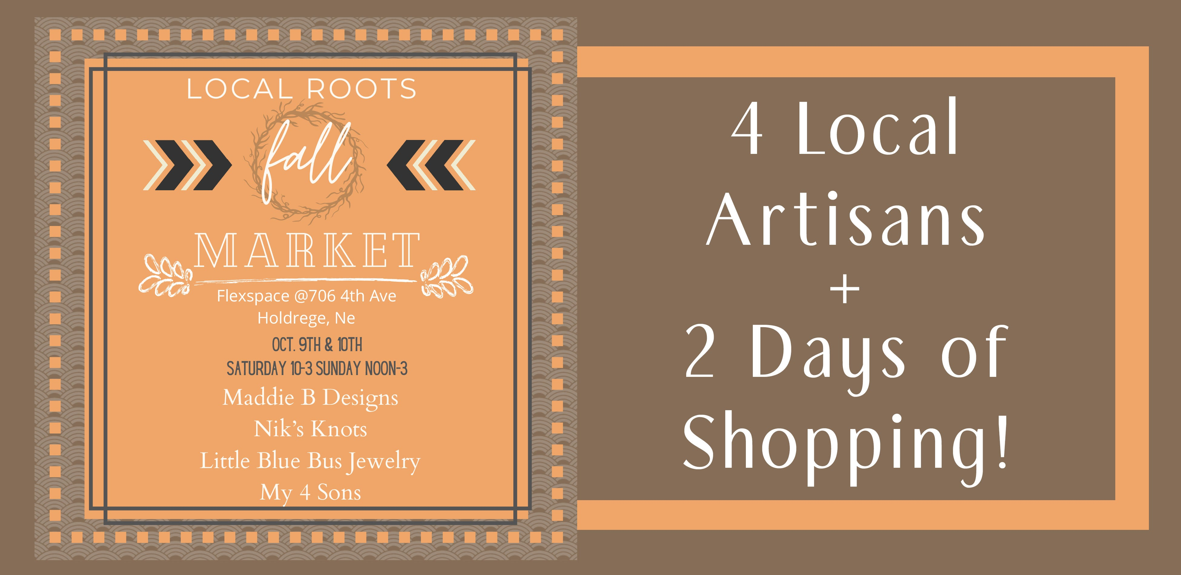 Local Roots Fall Market October 9 and 10 in Holdrege Nebraska