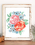 Autumn Floral Watercolor Wall Art
