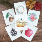 Fall Nature Collection - Watercolor Notecard Set of 6