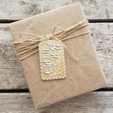 Best Wishes Hand Painted Wooden Gift Tag
