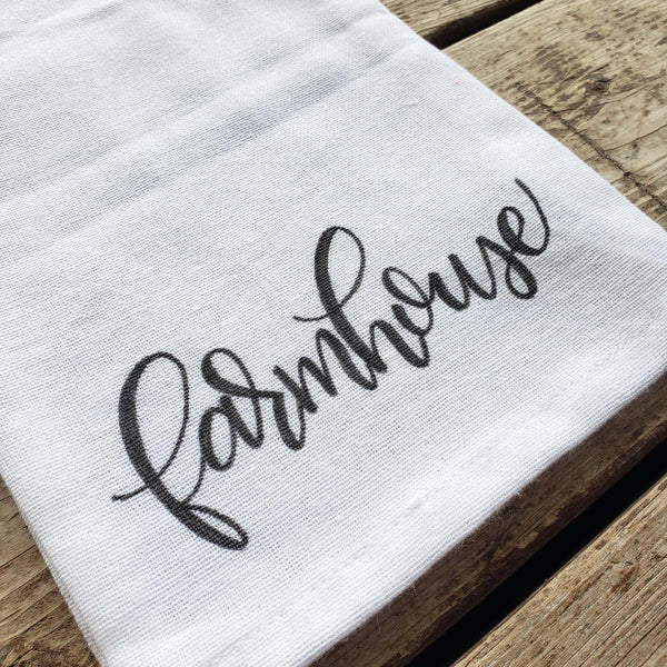 Farmhouse Floursack Kitchen Towel