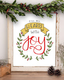 Hearts with Joy Wall Art