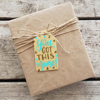 You Got This Mama Hand Painted Wooden Gift Tag