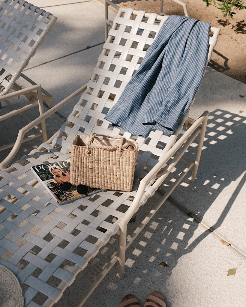 Thistle Straw Bag by Olive & Iris