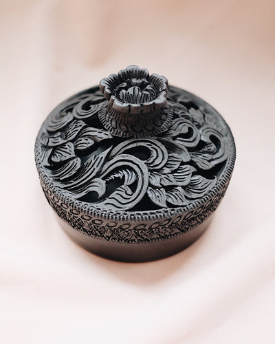 Aroon Hand Carved Incense Holder | Olive & Iris