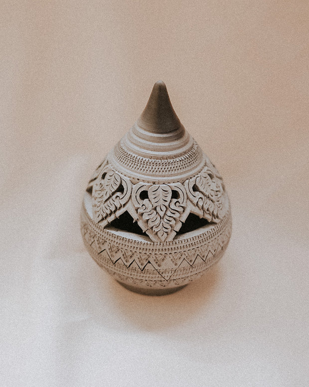Atid Hand Carved Clay Incense Holder | Olive & Iris