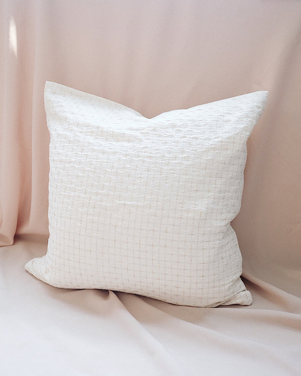 Criss Cross Pillow Cover | Olive & Iris