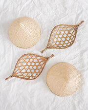 Daisy Basket Wall Hanging Set of 4 | Olive & Iris