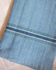 Blue Handwoven Organic Cotton Towel Blanket | Olive & Iris
