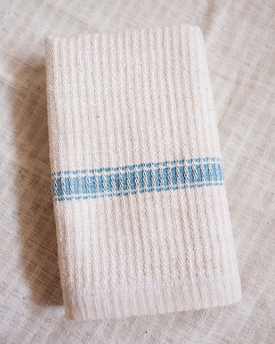 White Organic Cotton Handwoven Hand Towel | Olive & Iris