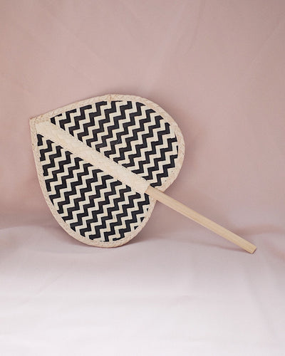 Heart Straw Hand Fan No.3