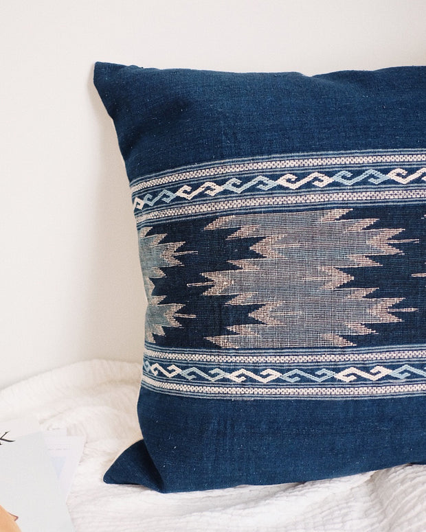 Hill Tribe Handwoven Pillow Cover No.2 | Olive & Iris