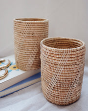 Thyme Rattan Utensil Holder Holiday Set | Olive & Iris