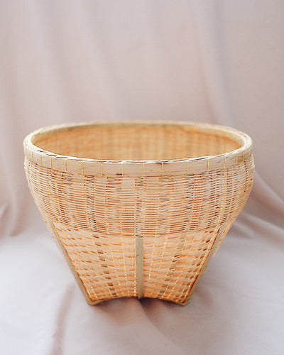 Jacinta Bamboo Storage Basket - Medium | Olive & Iris