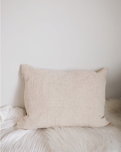 Cotton Hemp Bamboo Pillow Cover | Olive & Iris