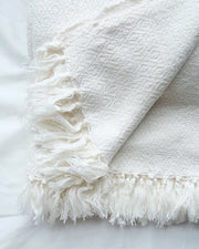 Large Marble Hand Woven Throw - Olive & Iris