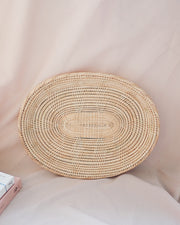 Large Oval Handwoven Rattan Plate | Olive & Iris