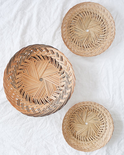 Madder Basket Wall Hanging Set of 3 | Olive & Iris