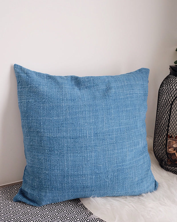 Double Sided Mars Indigo Handwoven Pillow Cover
