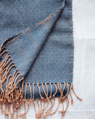 Indigo Hand Woven Throw | Olive & Iris