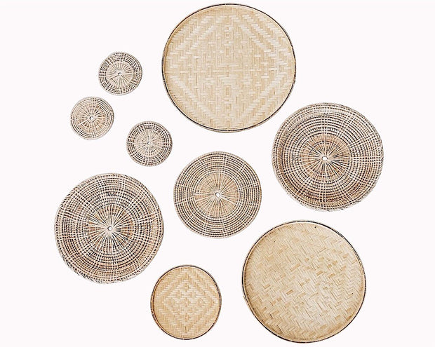 No.1 Basket Wall Hangings Set of 9
