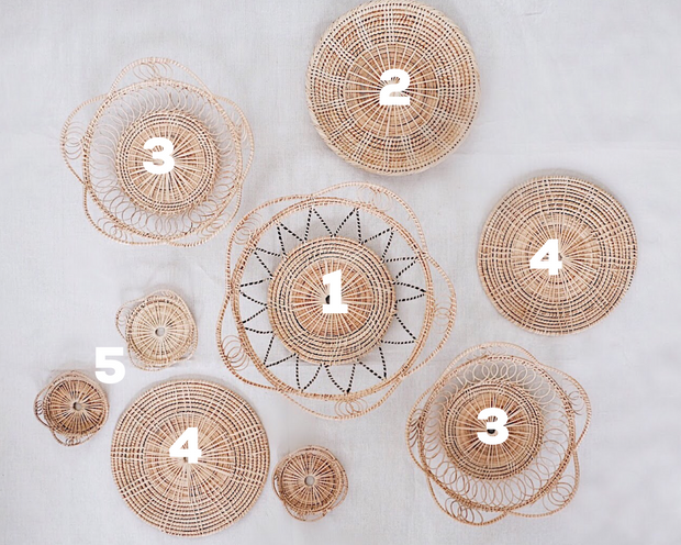 No.10 Basket Wall Hangings Set of 9 | Olive & Iris