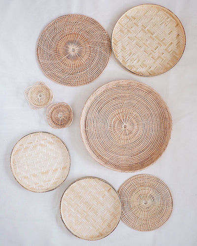 No.23 Basket Wall Hanging Set of 8 | Olive & Iris
