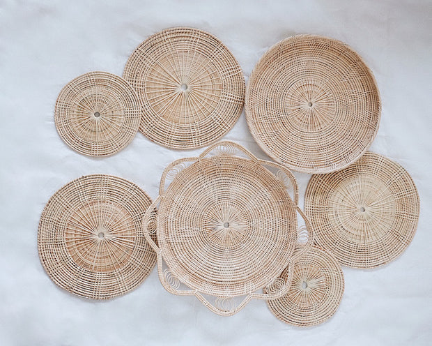 No.28 Basket Wall Hanging Set of 7 | Olive & Iris