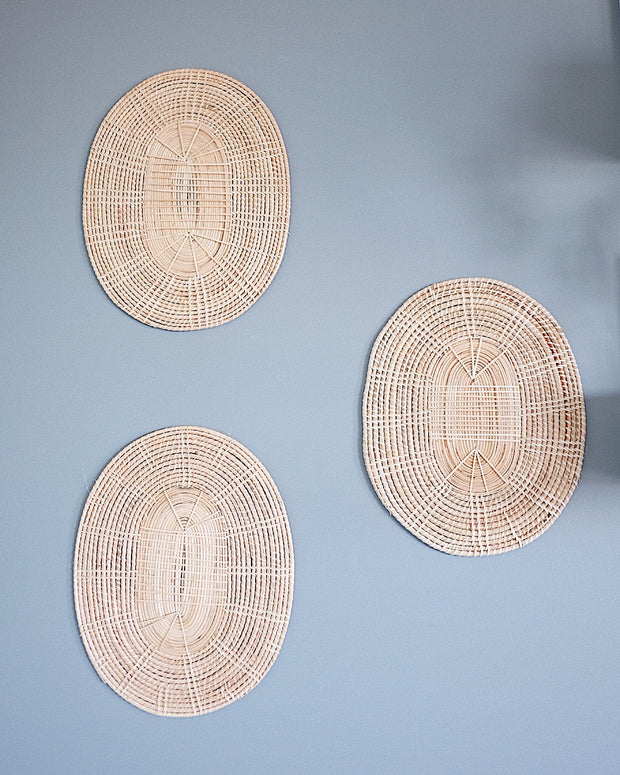 Oval Basket Wall Hanging Set No.2 | Olive & Iris