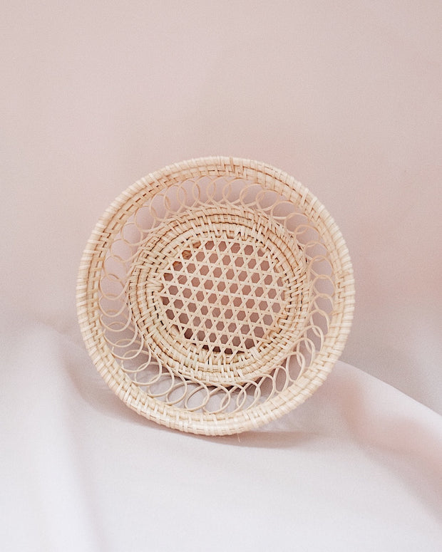 Petite Berry Rattan Woven Plate | Olive & Iris