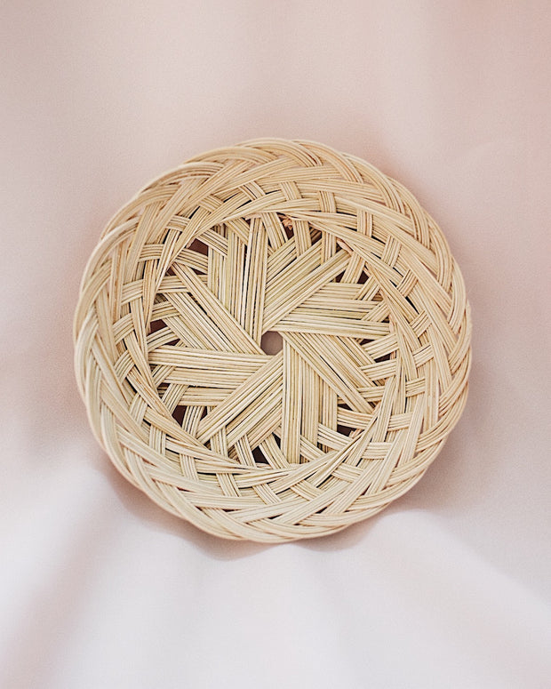 Petite Lily Handwoven Plate | Olive & Iris