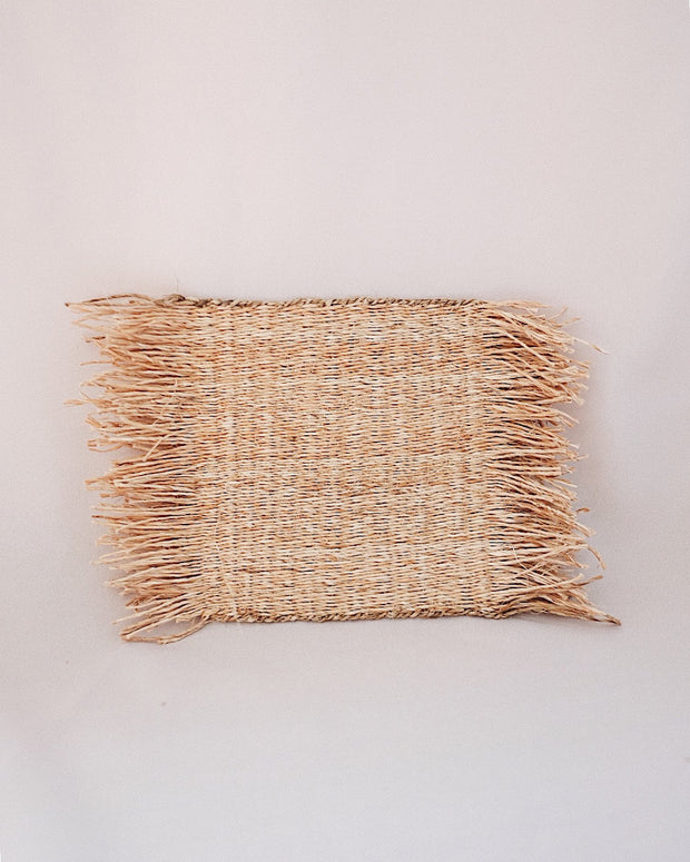 Primrose Jute Woven Coaster Set of 4 | Olive & Iris