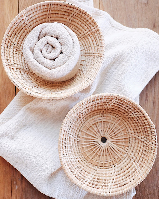 Small Hand Woven Rattan Bowl | Olive & Iris