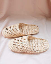 Straw Slipper | Olive & Iris