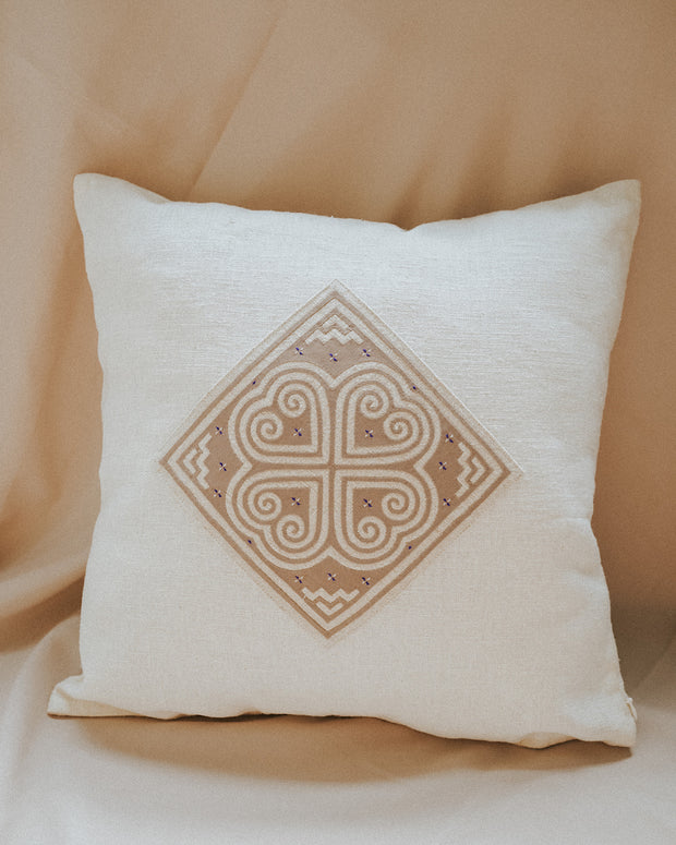 Vintage Hill Tribe Hand Embroidered Pillow Cover | Olive & Iris
