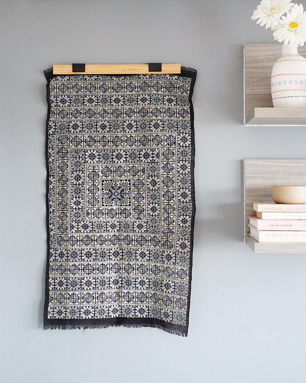 Wila Hmong Hand Embroidered Textile Wall Art | Olive & Iris