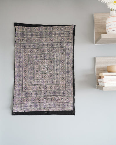 Wipa Hmong Hand Embroidered Textile Wall Art | Olive & Iris
