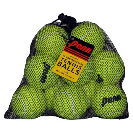 Penn Pressureless 12 Ball Mesh Bag Tennis Balls - TopSpin Tennis Store