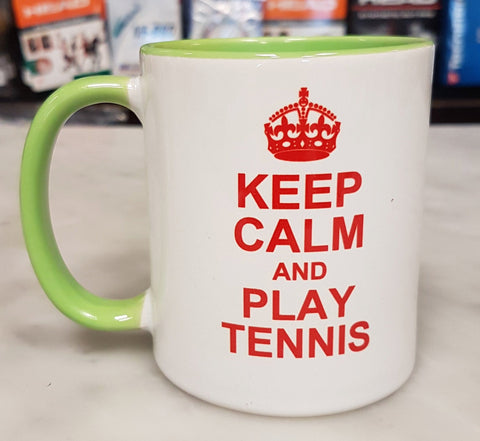 Keep Calm and Play Tennis Mug - TopSpin Tennis Store