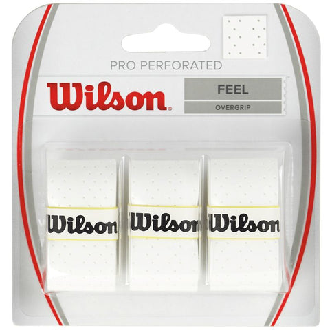 Wilson Pro Perforated Overgrip 3 Pack - TopSpin Tennis Store