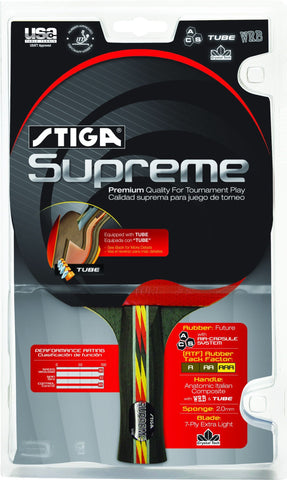 Stiga Supreme Table Tennis Racket - TopSpin Tennis Store