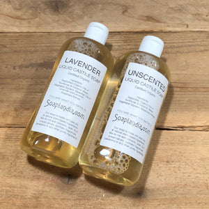 16oz Liquid Castile Soap, Certified Organic
